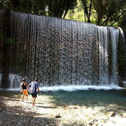 #cascata e forse caduta... #due che giocavano agli #esploratori (#progetto2 in piena #estate... 2013)