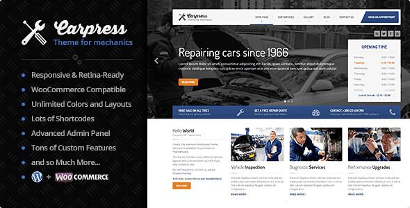 CarPress WordPress Theme free download