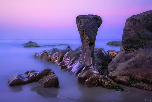 ocean sea sunrise landscape twilight rocks exposure peace earlymorning peaceful vietnam bluehour cổthạch vietnameselandscape