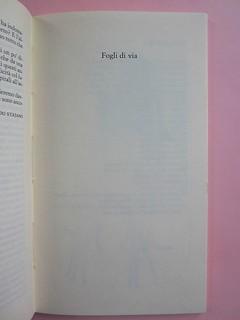 Fogli di via, di Tullio Pericoli. Einaudi 1976. Responsabilità grafica non indicata [Bruno Munari]. Indicazione del titolo del volume: a pag. 1 (part.), 1