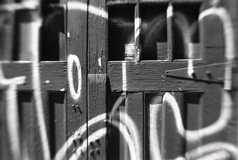 Graffitti on alley door