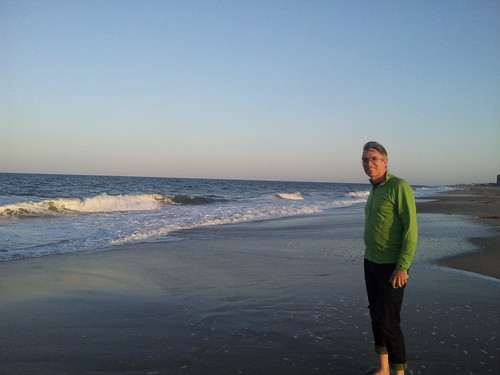 Rudi at Bethany Beach toward Sunset