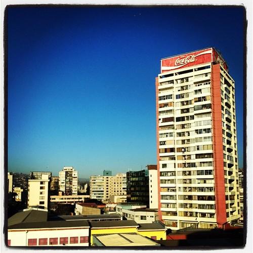 Centro de Viña del Mar #chile #city #sky #building #CocaCola