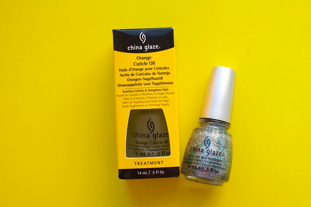 China Glaze Lorelei's Tiara + Orange Cuticle Oil
