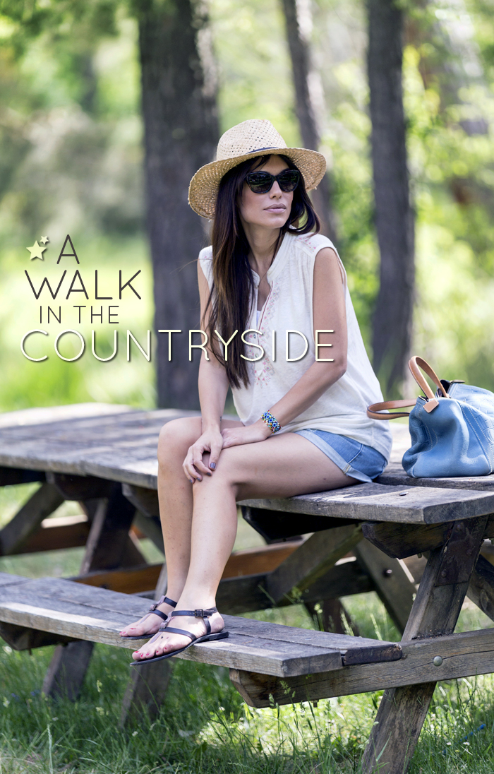 street style barbara crespo a walk in the countryside teruel village fashion blogger outfit the corner shop blog de moda