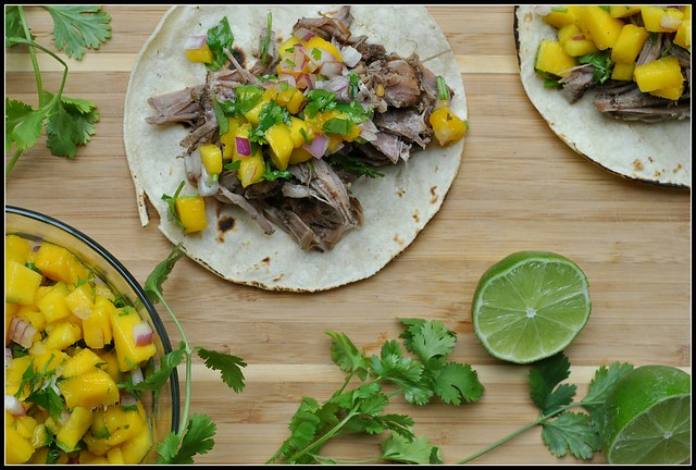 Caribbean Pork Tacos with Mango Salsa 2