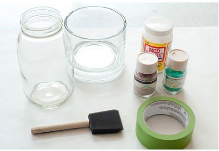 Cómo hacer un centro de mesa de purpurina