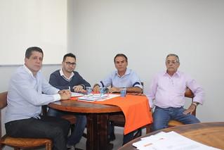 David Martins e Diogo Telles recebem Paulinho Alfaiate, pré-candidato do Solidariedade a deputado federal, e seu assessor Décio Florentino