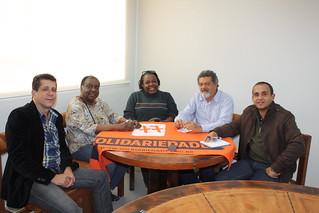Professora Odette, pré-candidata a deputada federal, e Cida Pazinatto têm reunião com David Martins, Cláudio Prado e Fábio Pereira