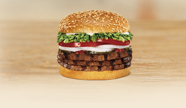 Burger King Triple Whopper Sandwich