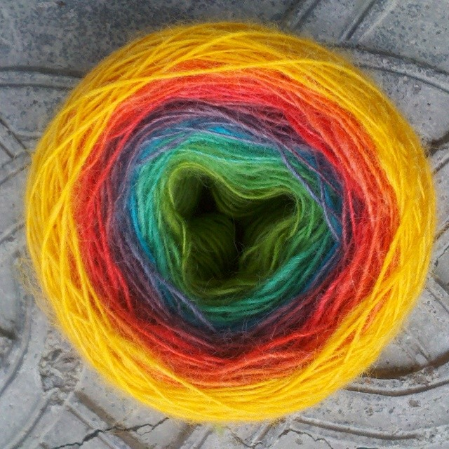 Hand dyed & spun by me!