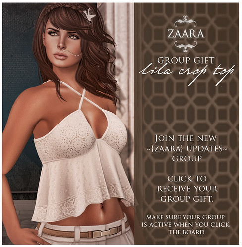 Group gift for the new ~{Zaara} Updates group