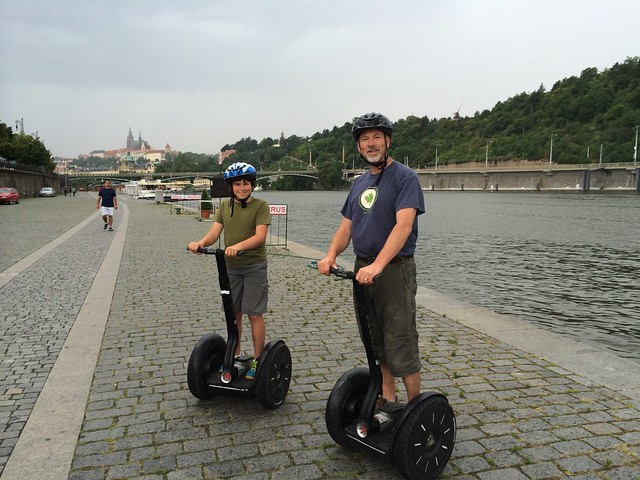 Scot and Miles on Segways