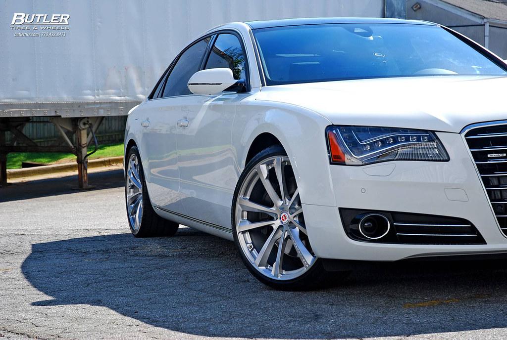 Audi A8 on HRE Wheels