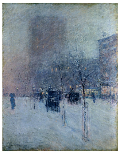 001- Atardecer de un invierno en New York 1900- Childe Hassam