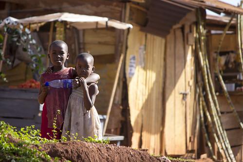 Kids outside office