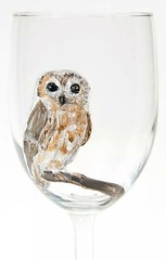Hand painted wise owl
