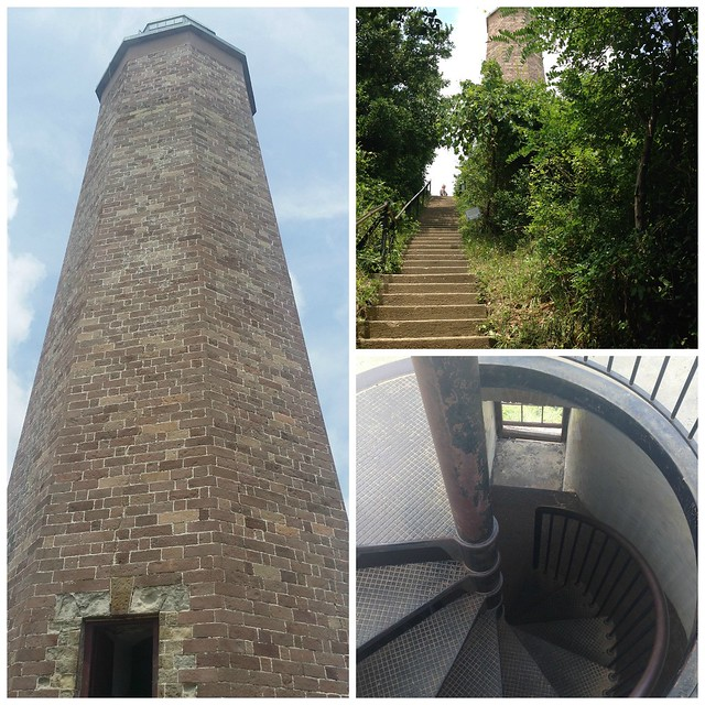 The old Cape Henry Lighthouse is over 220 years old; built in 1792