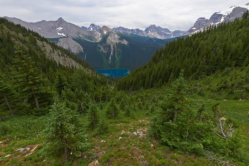 Marvel Lake from Wonder Pass - Mount Assiniboine Provincial Park