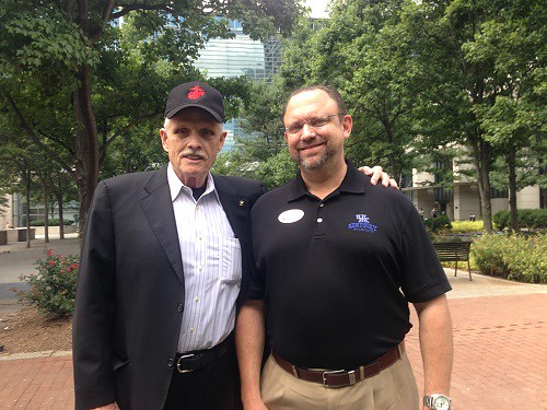 EPA rally_Jim with Kentucky Coal Association President Bill Bissett_7.29.14