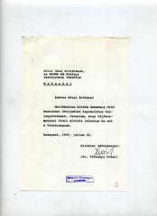 094. Feljegyzés a pártközpontban Habsburg Ottó 1987. évi magyarországi utazási kérelméről