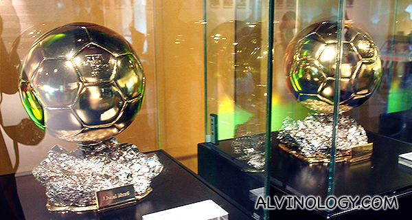 Closer look at Messi's trophies