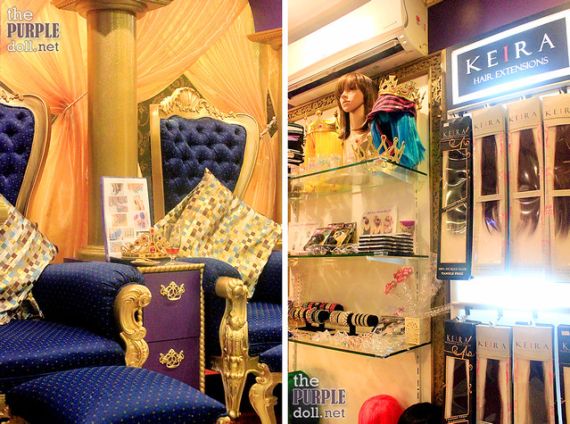 Hair extensions, wigs, lashes, accessories, etc at Princess Hazel Salon and Spa