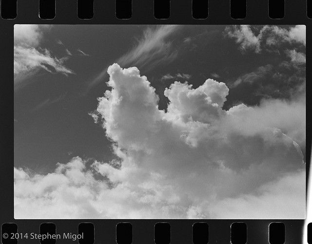 Clouds in Red on TriX