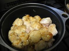 鶏肉を焼きます