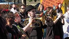 2014 HONK Fest West, Georgetown Seattle, The Dead Music Capital Band, flugelhorn, clarinet