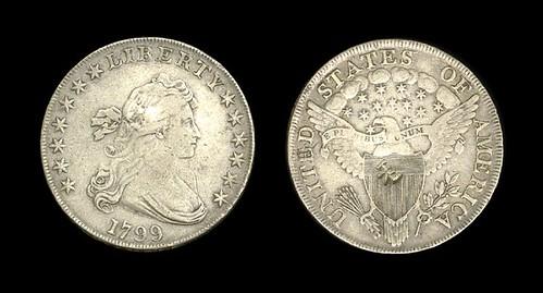 Chopmarked 1799 dollar