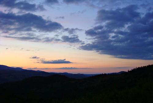 sunset romania cluj apuseni carpathianmountaints