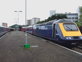 Intercity 125s at Swansea station