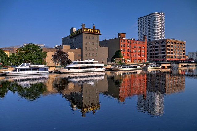 The Milwaukee River Edelweiss Boat Dock / Usinger's