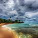 Rainy season has arrived on the tropical beach by Iztok Alf Kurnik