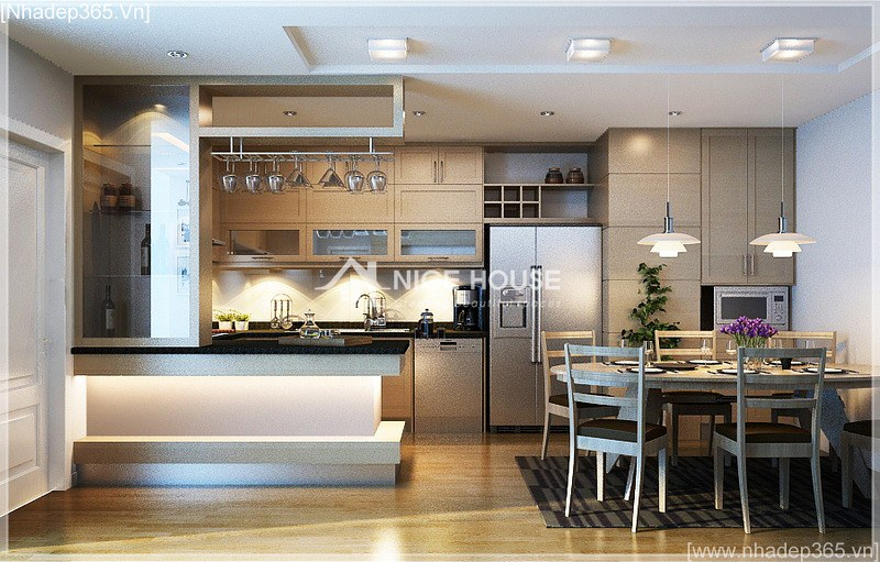Thiết kế nội thất căn hộ nhà cô Hằng - HN_03