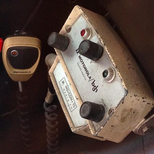 Radio #Motorola del IKA de Carabineros, también Industria Argentina #IKA #IndustriaArgentina