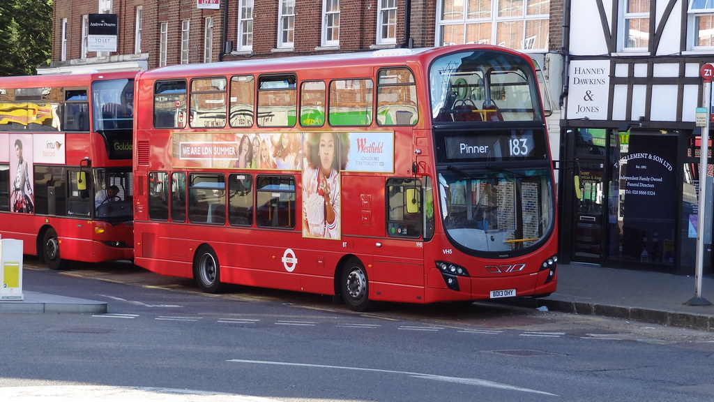 Route 183 to Pinner | TFL London Bus Route 183 to Pinner Sta