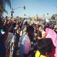 """""""Hands up, don't shoot."""" #mikebrown South Central #losangeles."""