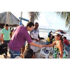 CONQUISTA DO VOTO. Do sertão ao litoral #betinho4500 vai conquistando a confiança e credibilidade dos pernambucanos rumo à Câmara Federal [hoje à tarde reencontrou com centenas de moradores da praia de Gaibu]