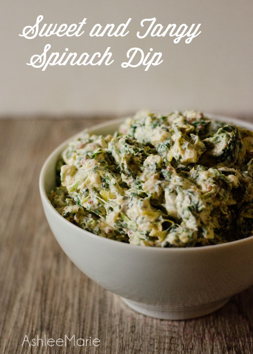 an easy to make sweet and tangy Spinach Dip #proudofit