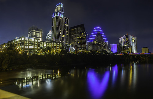 Downtown Austin at Night by Geoff Livingston