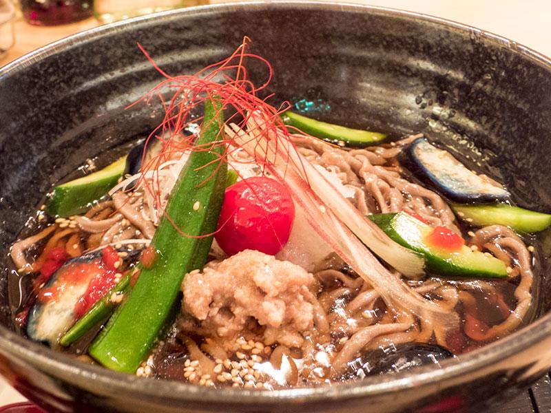 夏野菜冷蕎麦 胡麻風味