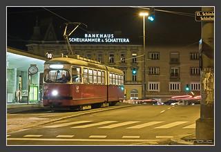 Tram Wien bei Nacht, 26. Dec 2009
