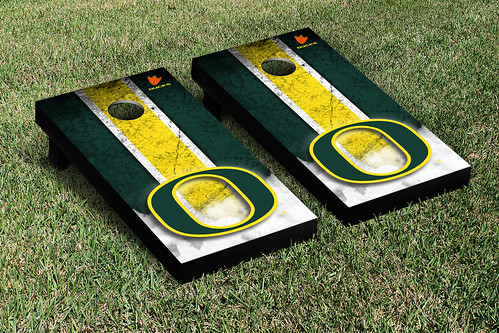 Oregon Ducks Cornhole Game Set Vintage Version
