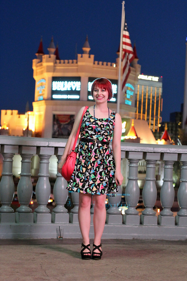Martini Print Dress in Las Vegas