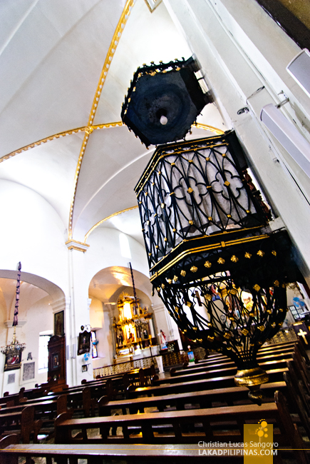 One of the Two Pulpits at Vigan City's St. Paul Cathedral