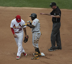 catcher(0.0), pitcher(0.0), sports(1.0), college baseball(1.0), team sport(1.0), baseball field(1.0), infielder(1.0), pitch(1.0), baseball player(1.0), baseball umpire(1.0), bat-and-ball games(1.0), ball game(1.0), baseball positions(1.0), baseball(1.0), athlete(1.0),