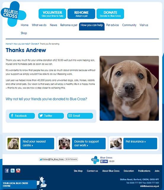 Blue Cross Donation
