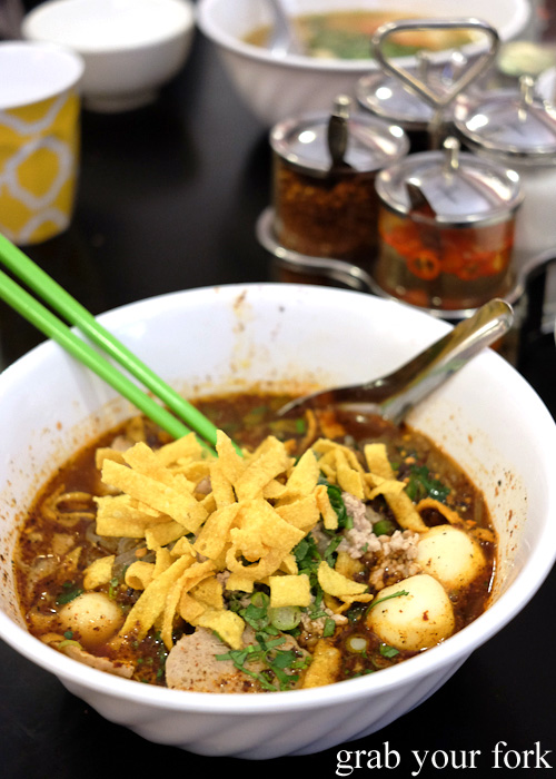 Do Dee lava tom yum spicy noodle level 3 at Do Dee Paidang, Haymarket Chinatown Sydney